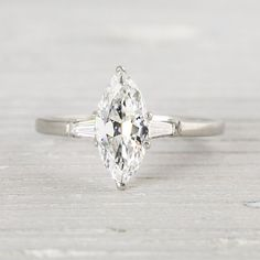 1.23 Carat Marquise Cut Vintage Engagement by ErstwhileJewelry