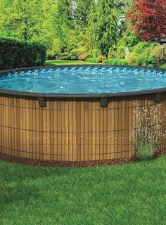Above Ground Pool Ideas - In the summer, people like spending few hours in the swimming pool. However, you may hate the way your above ground pool looks in your backyard. Above Ground Pool Landscaping, Above Ground Pool Decks, Backyard Pool Landscaping, Above Ground Swimming Pools, In Ground Pools, Patio Decks, Backyard Ideas, Above Ground Pools Canada, Koi Pond Design