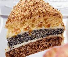 """Трехслойный торт с орехами, изюмом и маком """"Лесная сказка"""""""