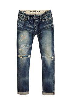 razor-slim-fit-japan-780 - Denim - Shop man - DENHAM the Jeanmaker 32 *34 Denim Ideas, Denim Trends, Denim Pants Mens, Men's Denim, Denham Jeans, Japanese Denim, Denim Shop, Boys Jeans, Vintage Jeans