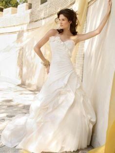 NO.02589652012 style aline sweetheart ruffles sleeveless sweep brush train taffeta wedding dresses brides