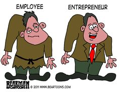 Entrepreneur Cartoon | Igor - Employee and Entrepreneur | Bearman Cartoons