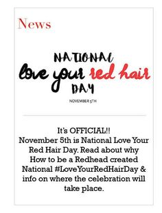 EVERY DAY is #LoveYourRedHairDay in my world!