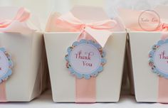 shabby chic party favor box