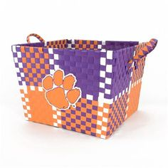 Clemson Tigers Team Color Square Basket