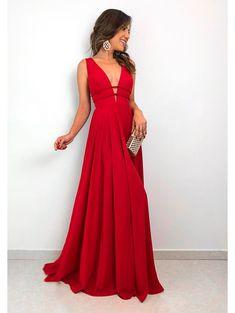 3891d1e60 14 melhores imagens de Vestido Madrinha Vermelho | Ballroom dress ...