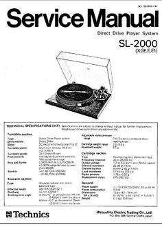 Technics SL-3300 , SL-3310 , Service Manual & Supplement