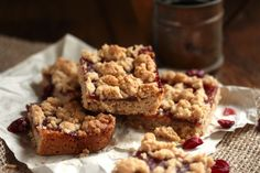 Gluten-Free Cranberry Orange Almond Bars