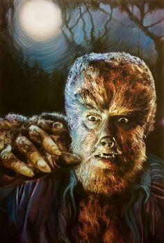 """""""The Wolfman"""" Artist Frederick Cooper. Classic Monster Movies, Classic Horror Movies, Classic Monsters, Monster Squad, Monster Art, Arte Horror, Horror Art, Real Horror, The Frankenstein"""