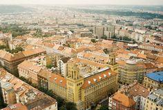 Prague View from Zizkov TV Tower