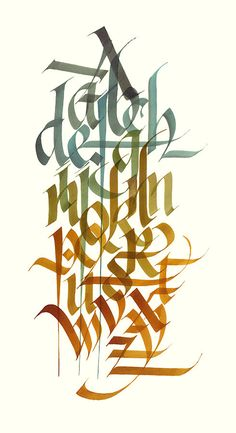 The Twenty Six Letters: Number 2 in a series of exercises in calligraphy utilizing all the letters of the alphabet..