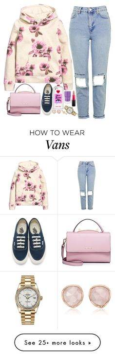 """""""❤"""" by polinachaban on Polyvore featuring H&M, Topshop, Vans, WithChic, Valfré, Nails Inc., MAC Cosmetics, Rolex, Monica Vinader and Accessorize"""