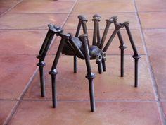 Repurposed metal scultures For The Garden | Tarantula Spider Garden Sculpture