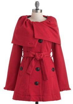Out of the Orchard Coat by Knitted Dove - ModCloth