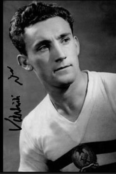 Pal Varhidi of Hungary in World Cup, Soccer, History, Sports, 1950s, Legends, Oriental, Art, Hungary