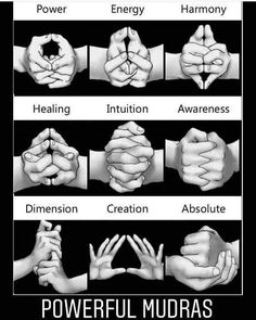 Mudras are hand gestures used during meditation that channel your energy flow towards specific goals. These are some mudras for healing and transformation Chakra Meditation, Chakra Healing, Indian Meditation, Kundalini Yoga, Meditation Art, Vipassana Meditation, Chakra Art, Chakra Mantra, Pranayama
