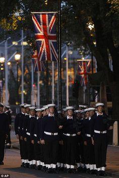 Union Jack and sailors