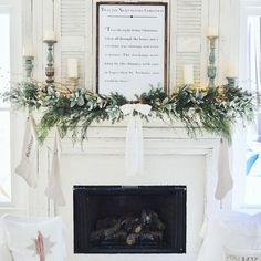 I sure do LOVE holiday weekends! Extra time with my family, especially my hubby 😍. My Georgia Bulldogs smacked his GT Yellow Jackets today… Christmas Time Is Here, Cozy Christmas, Country Christmas, Christmas Ideas, Woodland Christmas, White Christmas, George Nelson, Christmas Fireplace Mantels, Fireplace Mantle