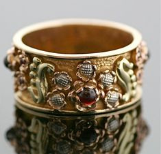 Antique Garnet Ring  Arts and Crafts Era Band by SITFineJewelry, $2250.00