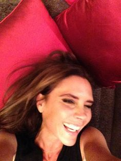 How sweet is this snap of smiley Victoria Beckham that David shared?