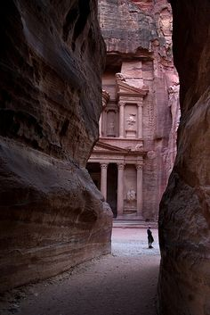 Petra is one of the most exotic places. We got there by traveling through Eilat, Israel. Then, walking and weaving through barbed wire and a no man's land of sand between Israel and Jordan. Then a waving friendly van driver drove us there. The Turkish bath story at Petra is another story altogether.