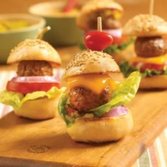 Mini Meatball Hamburgers