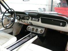 Inside the orange Mustang