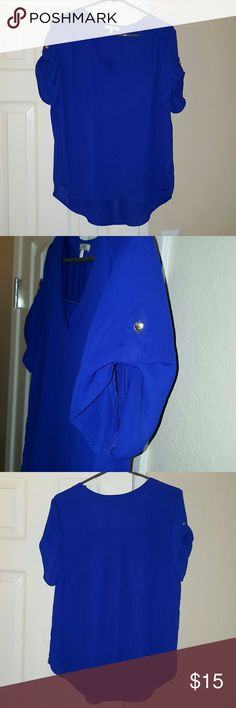 Blouse NWOT Sheer Blue Top. Only tried on once live 4 truth Tops Blouses