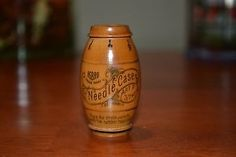 antique needle case | Antique Vintage Asbro Wood Wooden Sewing Needle Case Made Germany ...