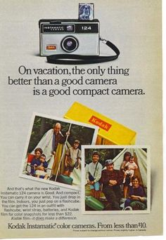 1969 Kodak Instamatic Color Compact Camera Vintage Print Ad   eBay