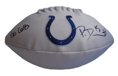 Phillip Dorsett signed Indianapolis Colts logo full size football w/ proof photo.  Proof photo of Phillip signing will be included with your purchase along with a COA issued from Southwestconnection-Memorabilia, guaranteeing the item to pass authentication services from PSA/DNA or JSA. Free USPS shipping. www.AutographedwithProof.com is your one stop for autographed collectibles from Indiana sports teams. Check back with us often, as we are always obtaining new items.
