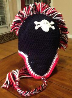 Mohawk Hat FREE SHIPPING by HookedUpByJen on Etsy, $26.00