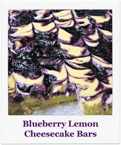 These Blueberry Lemon Cheesecake Bars are amazing. They are incredibly lemony, with lemon in the shortbread crust, lemon in the cheeseca...