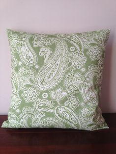 More throw pillows for Zach Paisley Pattern, Paisley Print, Guest Bedrooms, Master Bedroom, Sage Green Bedroom, Pillow Slip Covers, Living Room Decor, Dining Room, Green Sage