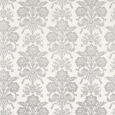 Tatton Silver Damask Wallpaper