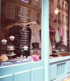 Pique-nique du Chapelier Fou, window display, summer 2013.
