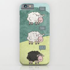 Lovely funny #case for your #handy. Available on #society6.  #society6products #sheep #rebel
