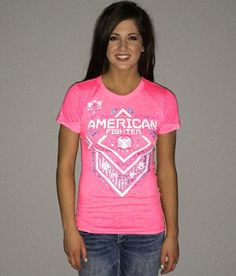 American Fighter North Dakota T-Shirt - Women's T-Shirts in Neon Pink Women's Shirts, Cute Shirts, American Fighter Shirts, Chicwish Skirt, Country Style Outfits, Female Fighter, North Dakota, Spring Summer Fashion, Cute Outfits