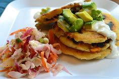 Guy Fieri Recipe | Stuffed Pupusas with Crudito Slaw + VeganMoFo Announcement!