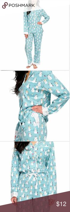 0d4b195493 NWT Munki Munki Ladies  2-piece Flannel PJ Pajama OPEN BOX Condition  New