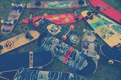 Skateboard graveyard