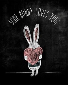 Some Bunny Loves You chalkboard inspiration for Easter. Chalkboard Doodles, Blackboard Art, Chalkboard Writing, Kitchen Chalkboard, Chalkboard Decor, Chalkboard Drawings, Chalkboard Lettering, Chalkboard Designs, Summer Chalkboard Art