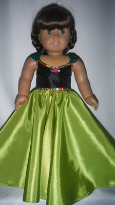 American Girl Doll Clothes  Anna Gown from by susiestitchit, $23.00