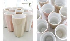 IKEA Pokal stoneware tumblers // milkshake colors