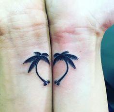 Estes em forma de coração palmeiras #tatuagens #tatuagem