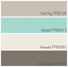 Modern Farmhouse Kitchen Color Palette from voiceofcolor.com ! Fynes Designs updated her traditional kitchen into a modern farmhouse kitchen using PPG Voice of Color paint colors Winter Feather, Great Gray, Horseradish and Whirlpool!