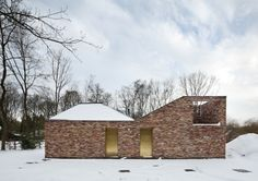 LOW architecten, woods, Belgian Brick Architecture