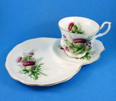 "Royal Albert "" Highland Thistle"" Tennis Set 