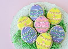 Pretty Easter Egg Cookies (with decorating tutorial) - by Glorious Treats