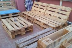 Pallet Terrace Sofa Set